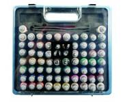 Kofferter med 40 - 51eller 72 farger og pensler