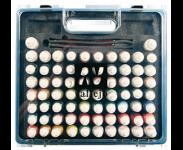 Kofferter med 51eller 72 farger og pensler