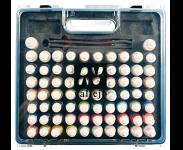 Kofferter med 72 farger og pensler