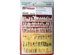 Preiser-16346-UNPAINTED-SPORT-LEISURE-FIGURES-Scub