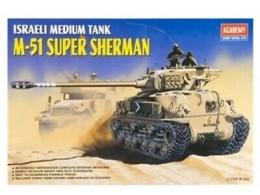 Idf-M-51-Super-Sherman-Tank-Academy-13254-1-35